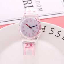 Woman Student Watch Jelly Color Transparent Refinement Quartz Wristwatches Gifts