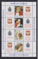 Polen 2004 postfrisch Klb. MiNr. 4109-4116  Pastoralreisen Johannes Pauls II.