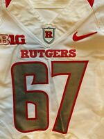 Rutgers Football Game Worn Issued Nike Jersey Big Ten NCAA F.A.M.I.L.Y. Size 42