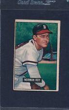 1951 Bowman #278 Norman Roy Braves VG 51B278-22715-1