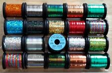 """""""Uni-Mylar Tinsel Combo""""..  Fly Tying. Craft. Feather. Floss. Tinsel. Yarn. Wire"""