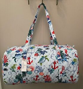 Vera Bradley ANCHORS AWEIGH Large Travel Duffel Bag Tote Luggage - NWT MSRP $109