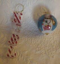 "Snowman Christmas Ornament 3"" & Noel Snowman Ornament 10"" Tall Decoration"