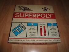 SUPERPOLY MADRID O MONOPOLY JUEGO DE MESA ANTIGUO Y EL INTERIOR NUEVO A ESTRENAR