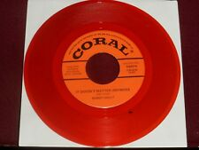 """BUDDY HOLLY """"It Doesn't Matter Anymore"""" Coral 62074 Red Wax!"""