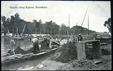 DUTCH INDIES~Indonesia~Java~ 1900's SOERABAJA   NEW BRIDGE KAJOON ~ CONSTRUCTION