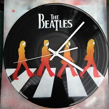 The Beatles Clock design . Painted records vinyls. Handmade stencil work
