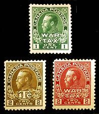 Canada #MR1-MR2 & #MR4 1915-16 War Tax Mint Hinged 3 items