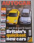 Autocar magazine 4/7/2001 featuring Mini One, Rover Tourer road test, Mercedes