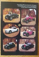 No 46 MG Cavalcade 1925-1958 VM133PC Vintage Ad Gallery Postcard MGA MG Midget