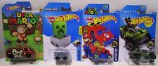 Hot Wheels TV Video Game Super Mario Donkey Kong Minecart Minecraft Halo Lot
