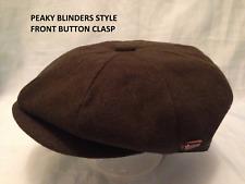 Peaky Blinders Plain Dark Green 1920'S 30'S Cap Peaked Pre Shaped Cap Xl & Xxl