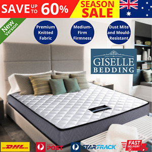Luxury King Single Matress Mattress Fabric Sleeping Foam Medium Firm Spring Bed