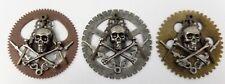 Freemasons Masonic Memento Mori Crossbones Square & Compass Steampunk Lapel Pin
