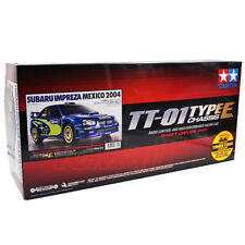 Tamiya 1:10 TT01E Subaru Impreza Mexico 2004 EP Touring RC Cars Kit w/ESC #47372