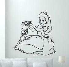 Alice In Wonderland Wall Decal Cartoon Vinyl Sticker Kids Art Decor Mural 7crt