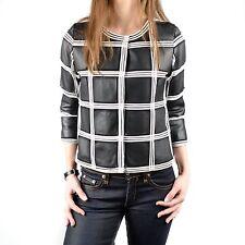 Women's Escada Black Leather Jacket Size Small