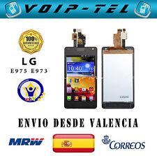 PANTALLA COMPLETA LCD DISPLAY CON  TACTIL SIN MARCO LG OPTIMUS G E975 E973 NEGRO