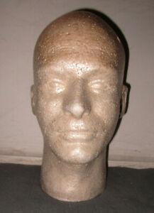 LIGHTWEIGHT MALE MANNEQUIN HEAD, WIG HAT DISPLAY