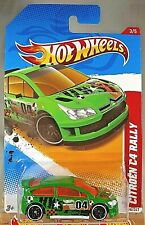 2012 Hot Wheels #198 Trill Racers-City Stunt 3/5 CITROEN C4 RALLY Green Variant