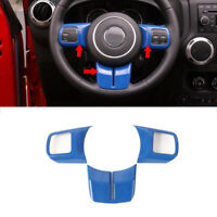 Blue Steering Wheel Cover Trim fits Jeep Wrangler Compass Patriot Grand Cherokee