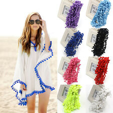 20Yards/Lot 8MM PomPom Trim Ball Fringe Ribbon DIY Sewing Lace Home Party Decor