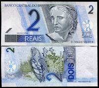 BRAZIL 2 REALS 2001 P 249 UNC