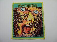 pestilence consuming impulse   yellow border   woven patch