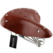 PedalPro Brown Genuine Leather Sprung Bicycle Saddle/seat Classic Vintage/retro