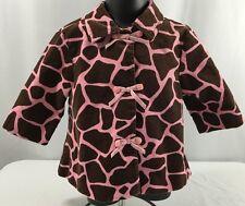 Gymboree Toddler Girl 18-24 Mo Coat Jacket Giraffe Club Pink Brown Giraffe $59