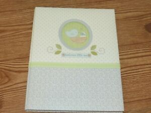 NEW C.R. Gibson Nurture Neutral Gray Birds Record Memory Baby's First Years Book