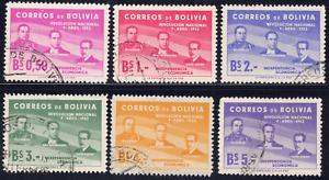 1953 Bolivia SC# 378-383 - F - Revolution of Apr. 9. 1952 1st Anniv. - Used