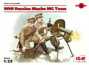 WWI Russian Maxim MG Team with Weapons&Equipment 1/35 ICM Models(Factory Sealed)