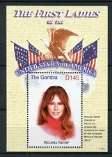 Gambia Stamps 2017 MNH Melania Trump First Ladies of USA US Presidents 1v S/S