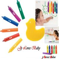 6x BATH CRAYONS KIDS BABY WASHABLE NON TOXIC PENS ART DRAWINGS FUN TOY  CRAFTS