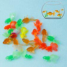20pcs Rubber Simulation Small Goldfish Gold Fish Kids Toy Decoration Bath Toys