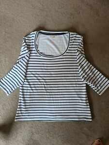 Ladies Mudd And Water Top Blue Striped Size 16.