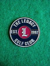 "The Legacy Golf Club Ball Marker 1"" Metal Flat Coin Putting - Ahead - Est. 1997"