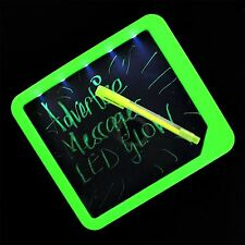 LED fluorescente seco limpie Tablón de mensajes con Luz Oficina Hogar Memo Notes Planificador