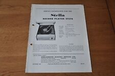 Stella ST576 Record Player Workshop service manual ST 576