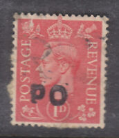 GB George VI 1d used with PO overprint