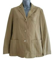 PIAZZA SEMPIONE Women's Beige Stretchy Light Cotton Jacket. Size Italy 40, UK 8.