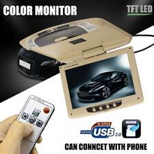 "Ultra - Thin 9"" Car Overhead LCD Screen Display Monitor, DVD Player,USB/SD"