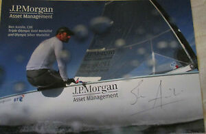 7x5 Hand Signed Photo of Olympic Sailor Ben Ainslie
