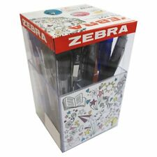 Zebra School Desk Tidy Penna Pentola con 25 PENNE essenziali Matite & Evidenziatori