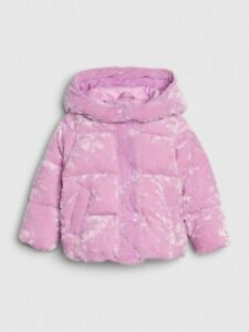 Baby Gap Girl's Lavender ColdControl Max Velvet Puffer Jacket Coat Size 5T NWT