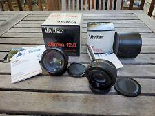 Vivitar 28mm 1:2.8 Close Focus Wide Angle Camera Lens & Adapter – Canon FD Mount