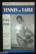 Règle officielle du tennis de table ou ping pong - seule édition autorisée FFTT