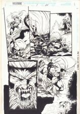 Wolverine: Knight of Terra #1 p.24 - Sabretooth Action 1995 art by Jan Duursema