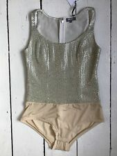 NEW Gold Sequin Silk Body Size XS UK 8- Moka London